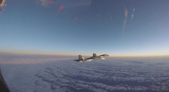 New videos show intercepts of Russian fighter jets