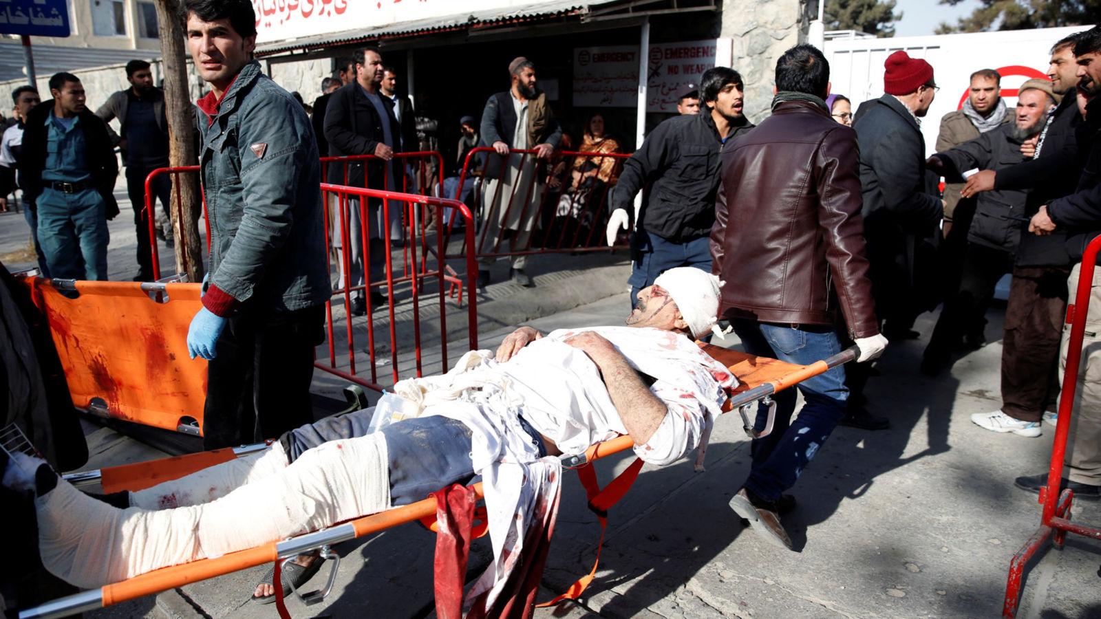 Suicide bomber driving ambulance kills 17