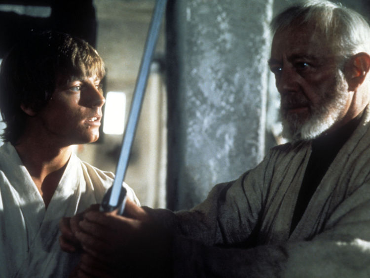 Obi-Wan Kenobi was first played by Alec Guinness in the first trilogy