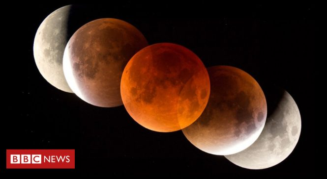 Skywatchers see 'super blue blood Moon'