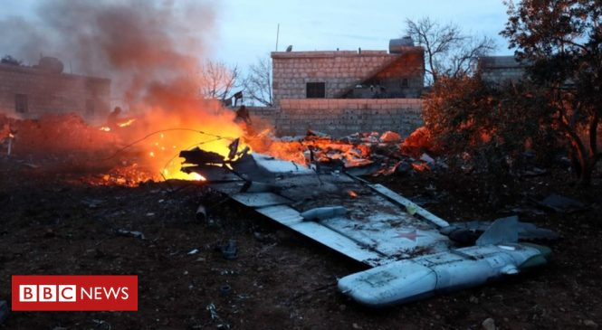 Russian fighter jet shot down in Syria's Idlib province