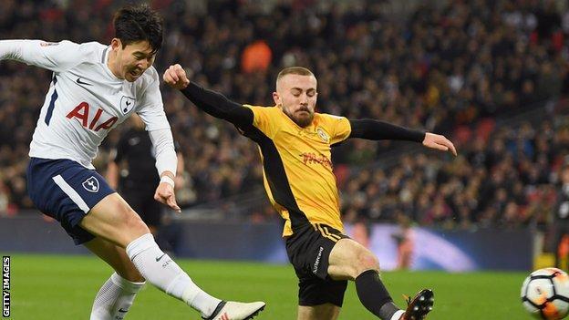 Tottenham see off League Two Newport at Wembley
