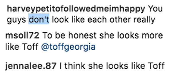 Amanda Holden lookalike Instagram pic comments