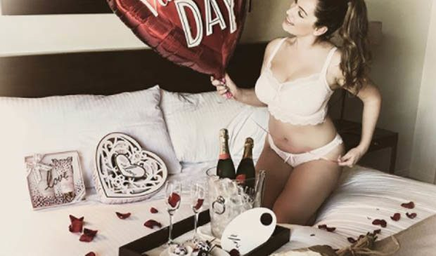 Kelly Brook strips to paper-thin undies for Valentine's Day peepshow