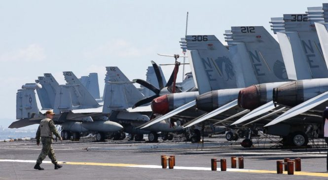 US Navy says China's military buildup won't stop patrols