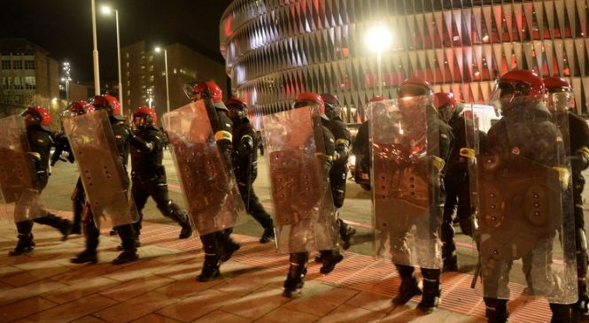 Policeman dies as Russian and Spanish fans clash