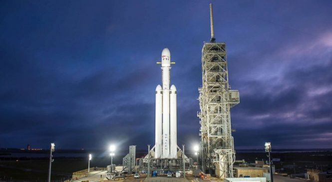 SpaceX set to launch massive Falcon Heavy rocket