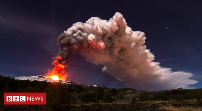 Mount Etna is 'sliding towards the sea'