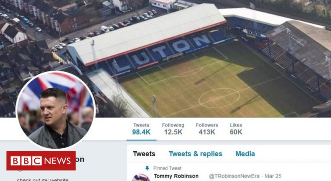 Tommy Robinson banned from Twitter