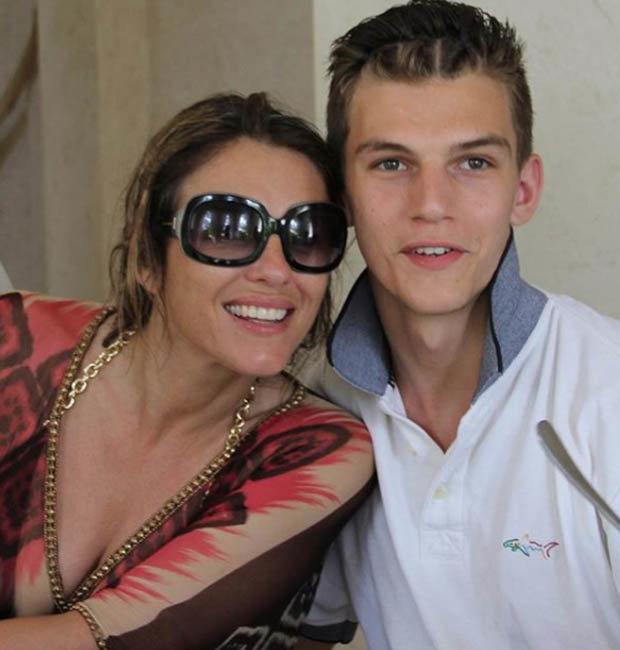 Elizabeth Hurley and nephew Miles