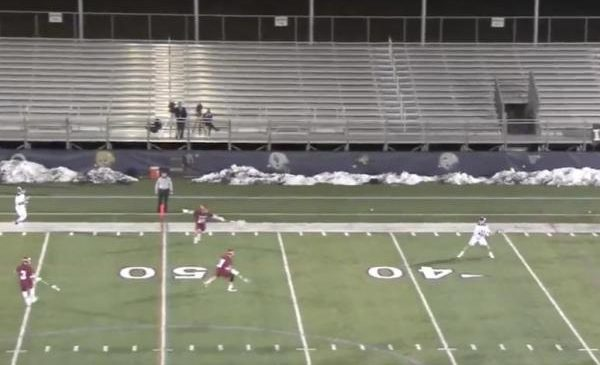 Lacrosse player nets goal from 53 yards out