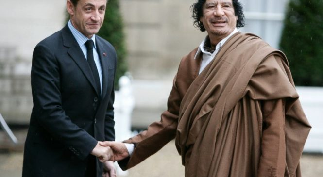 Ex-French president Sarkozy held on Gadhafi claims