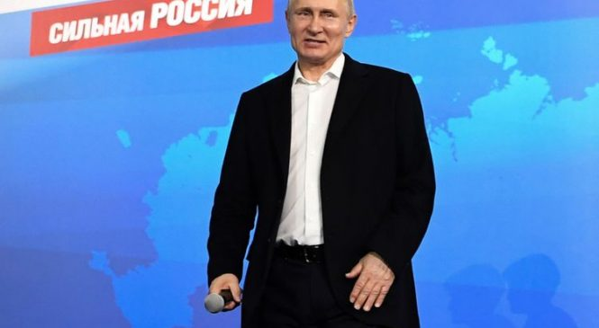 Putin is president again with 77% of votes