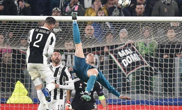 Cristiano Ronaldo nets bicycle kick in Champions League win vs. Juventus