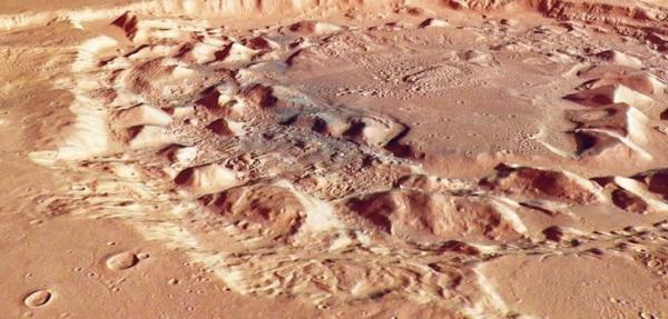 ESA's Mars Express finds possible supervolcano remnant