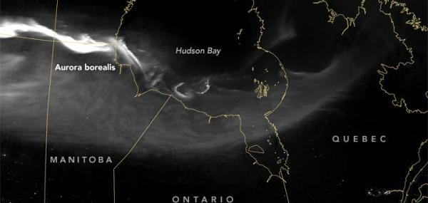 NASA satellite spots northern lights from above