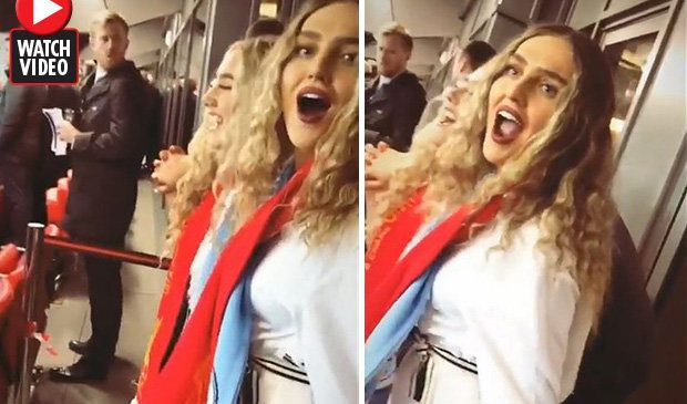 Perrie Edwards cheers on Liverpool against Man City – fans all say the same thing