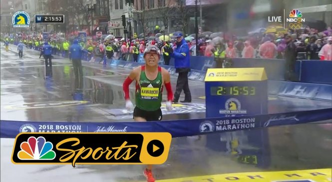 American woman wins Boston Marathon, first in 33 years