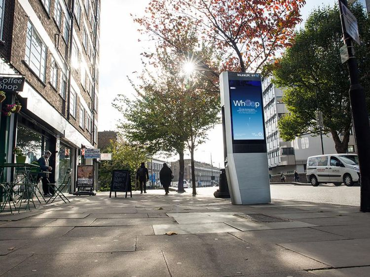 The kiosks are replacing phone boxes in city centres, with 1,000 planned by the end of the year. Pic: InLinkUK