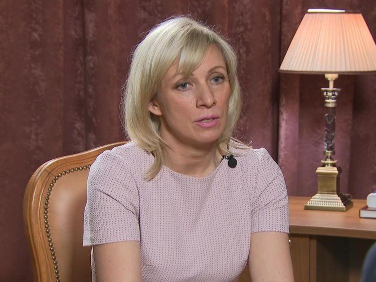 Maria Zakharova spoke to Sky News in Moscow