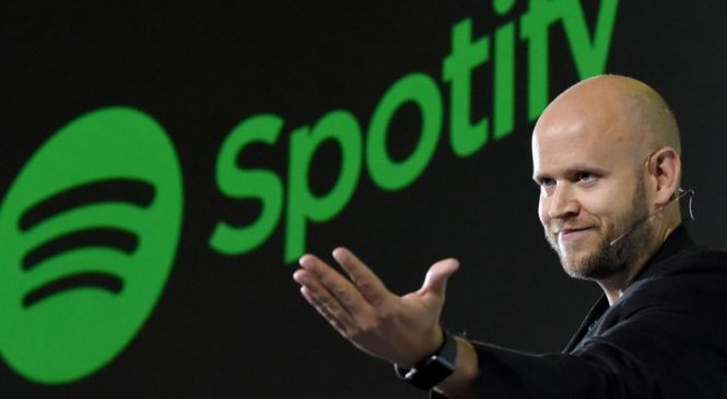 Spotify valued at $30bn in Wall Street debut