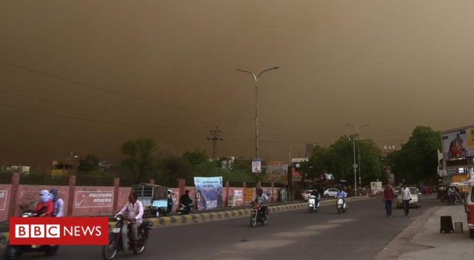 Dust storms kill nearly 100 in northern India