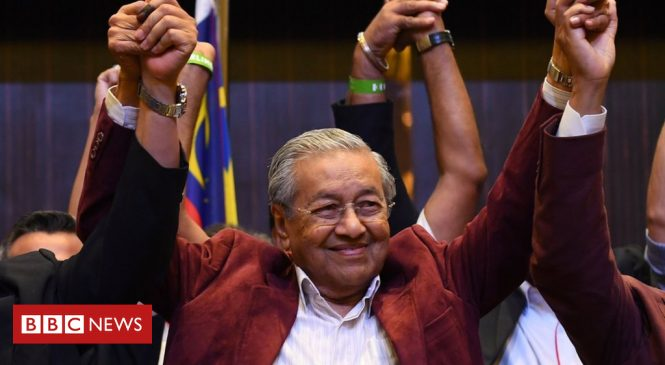 Malaysia election: Opposition scores historic victory