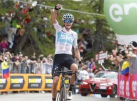 Froome takes Giro lead with stunning stage win, Yates drops away dramatically