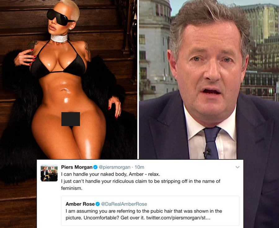 Piers Morgan slams Amber Rose for knickerless Tweet
