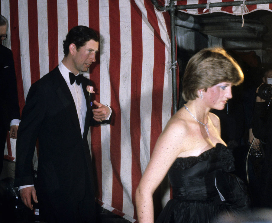 Diana turns heads in a famously low cut gown in 1981