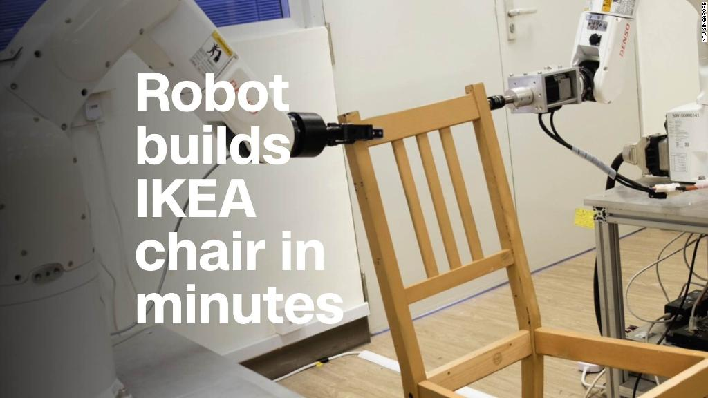 Watch this robot assemble an IKEA chair in minutes