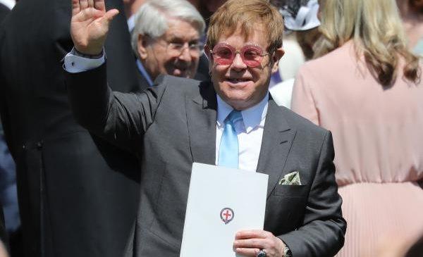 Elton John sings 'Circle of Life' at Prince Harry's wedding reception