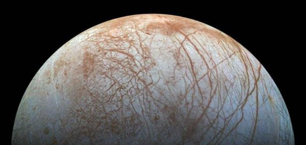 Plumes of ocean spray are emanating from Jupiter's moon Europa