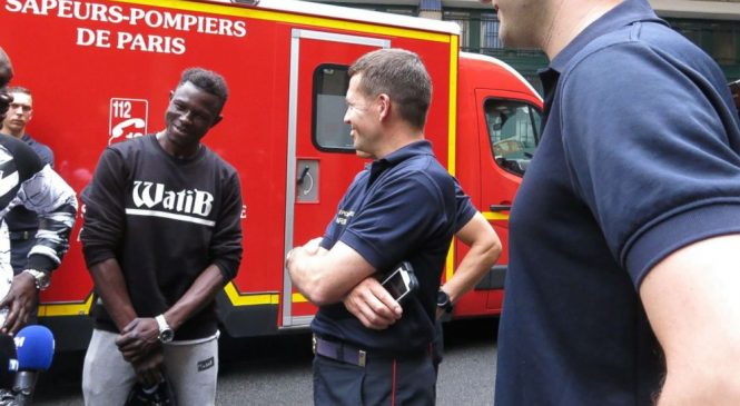 Man who rescued boy from balcony offered internship with Paris fire brigade
