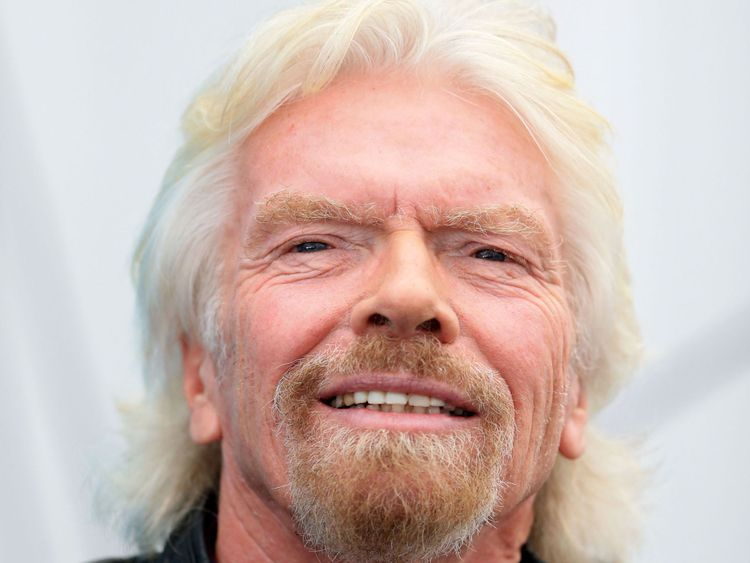 Sir Richard Branson, who has revealed that he is training to become an astronaut