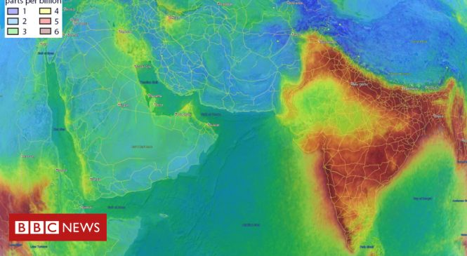 Why does India's air look different from space?