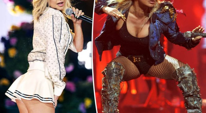 Fergie unleashes lady lumps in sinfully low-cut outfit