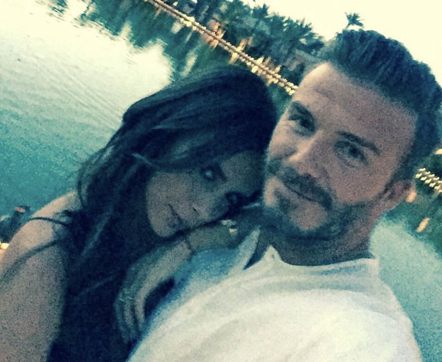 David Beckham and Victoria Beckham share a romantic selfie