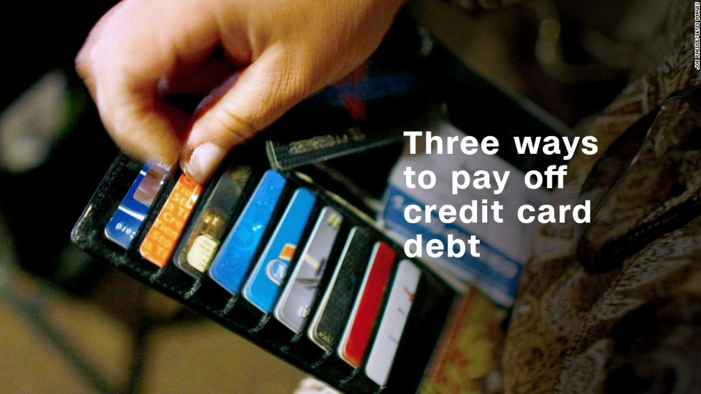 Three simple ways to pay off credit card debt