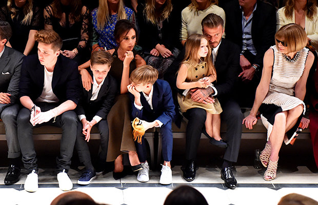 David and family at catwalk show