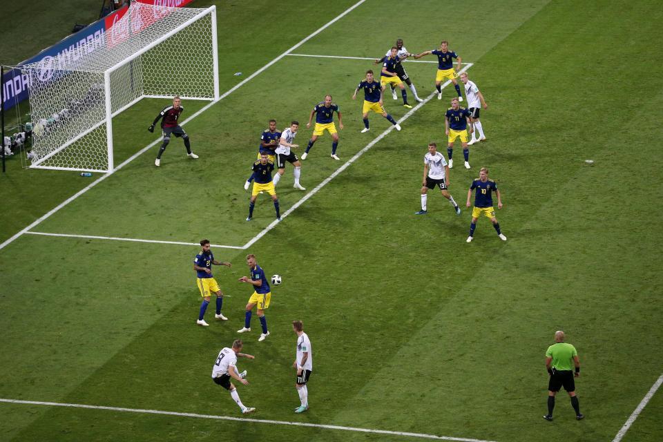 Kroos' free-kick