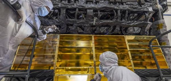 NASA engineers use gold to redirect excess heat from James Webb Telescope