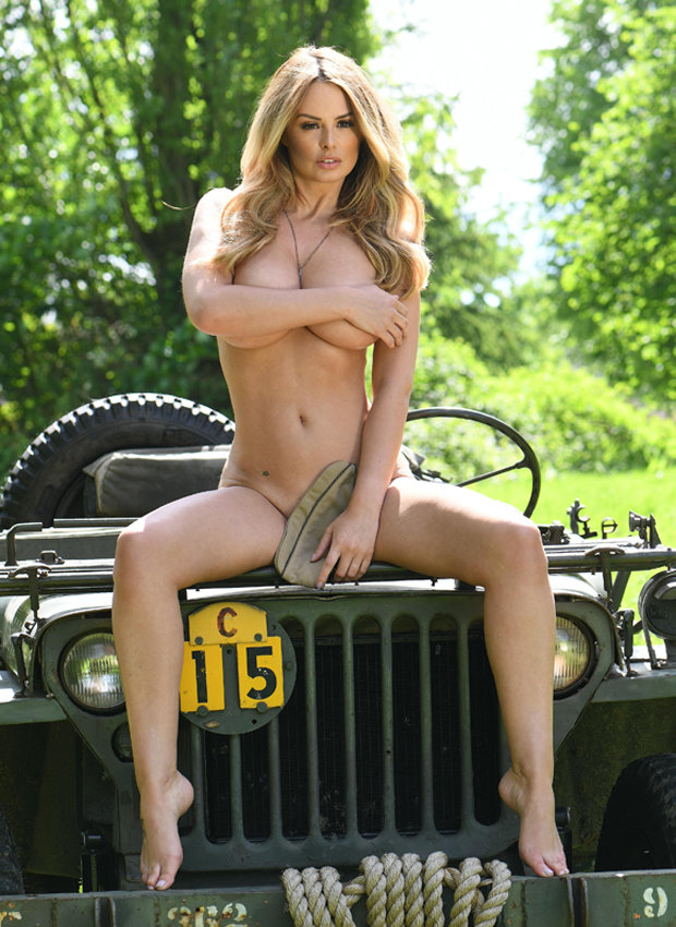 Standing to attention: Rhian Sugden comes out of retirement for fully naked Army shoot