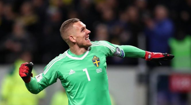 Liverpool interested in Sweden's World Cup 2018 goalkeeper Robin Olsen