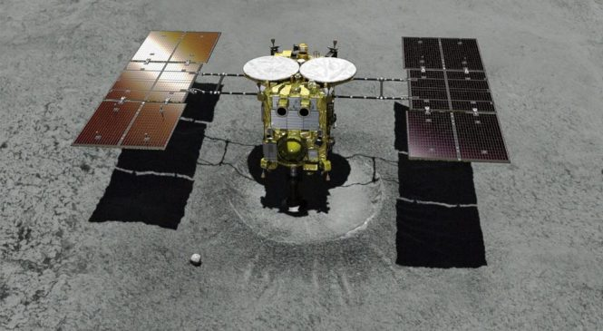 Japan space probe arrives at asteroid to collect samples