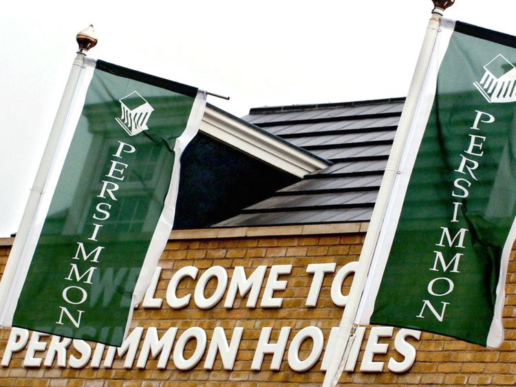External  shot of UK housebuilder Persimmon.