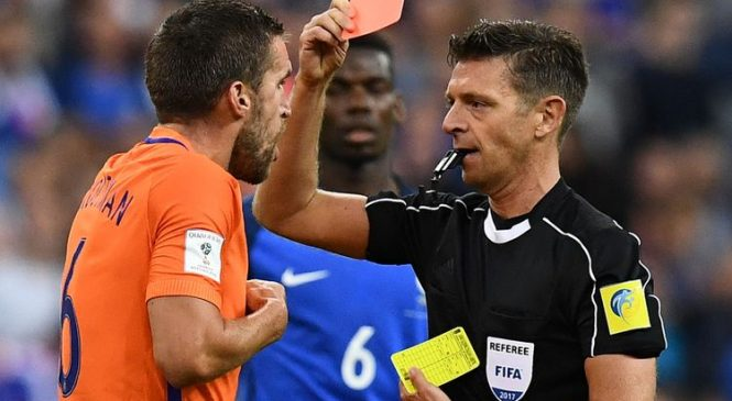 Red cards 'more likely' when referees use slo-mo