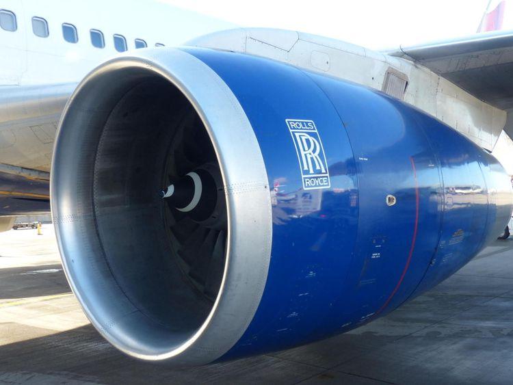 British Airways Airbus with Rolls Royce jet engine