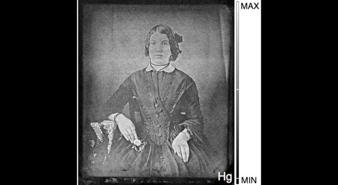 Tiny X-ray beam reveals hidden photographs from the 19th century