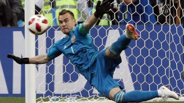 Russia stun Spain on penalties to reach quarter-finals – highlights & report